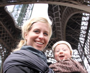 Judah and I by the Eiffel Tower.