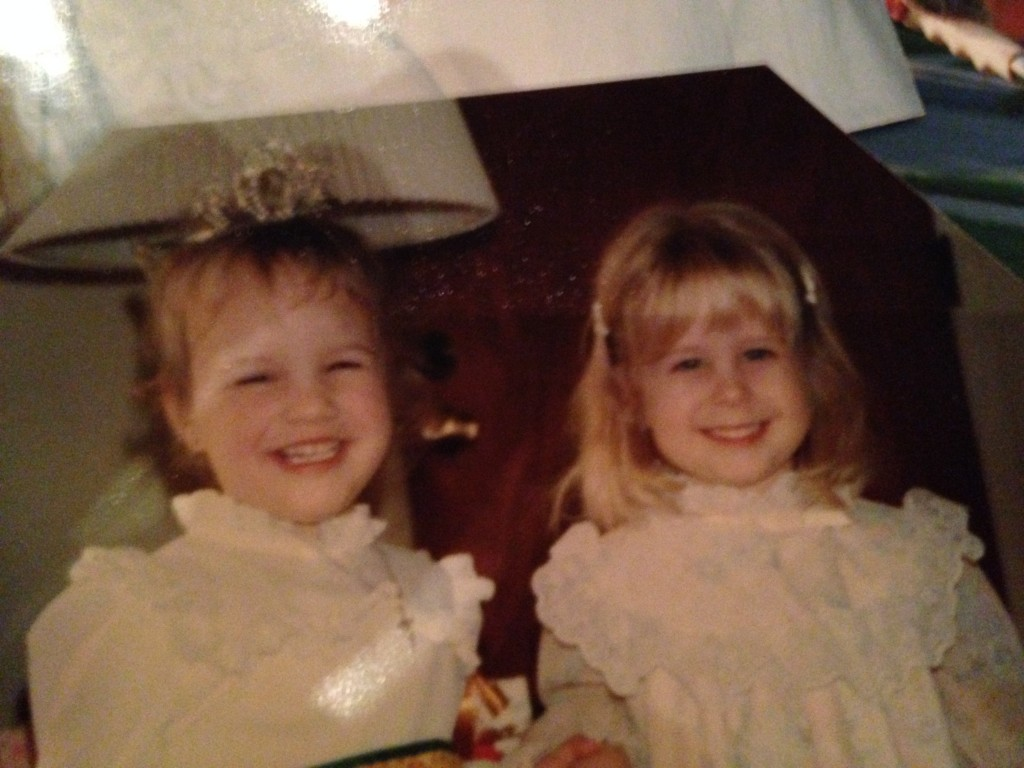 Me on the right, my childhood best friend Katie on the left with the crown.  We are still friends.  Though we live hundreds of miles a part, we text each other for prayer and encouragement.