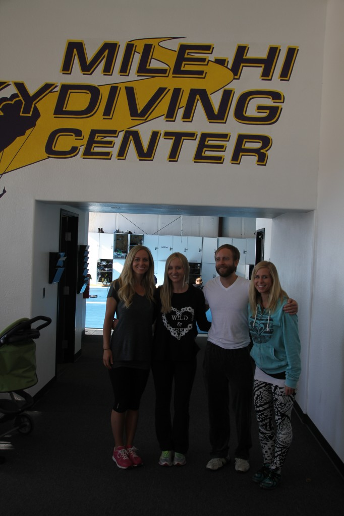Here we are moments after we first arrived at Mile High Skydiving Center in Longmont, CO.
