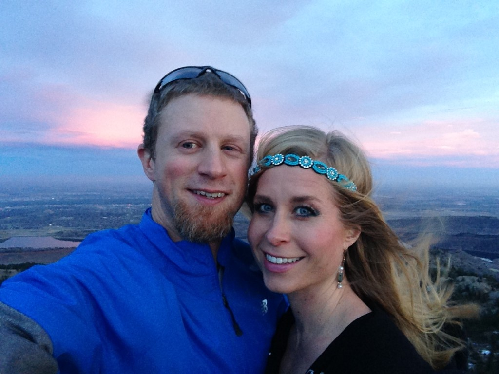 Valentine's Day date with my man.  Horsetooth Rock.